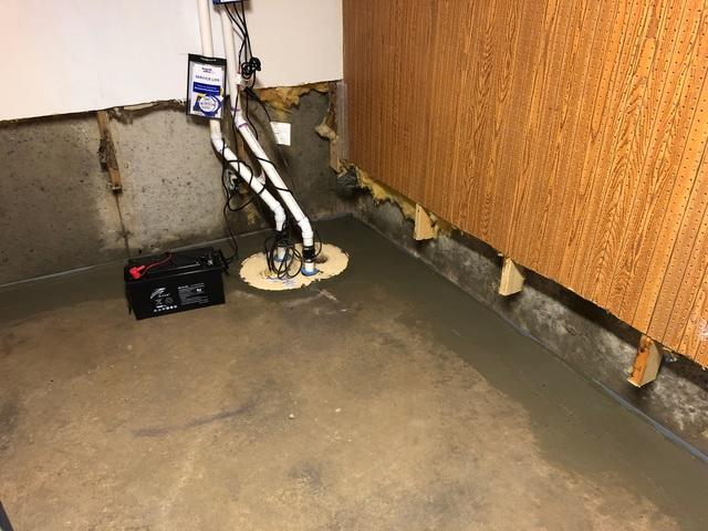 Basement Sump Pump Installed in Eau Claire, WI