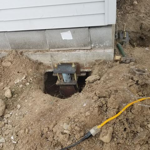 Foundation Helical Support Piers Installed in Angora, MN