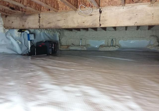 Crawl Space Encapsulation and Waterproofing to Address Moisture and Sinking in Bayfield, WI - After Photo