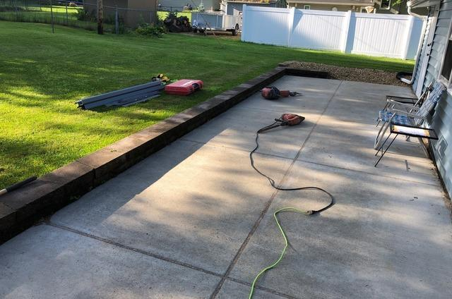 Trench Drain and PolyLevel® Restores St. Paul Patio