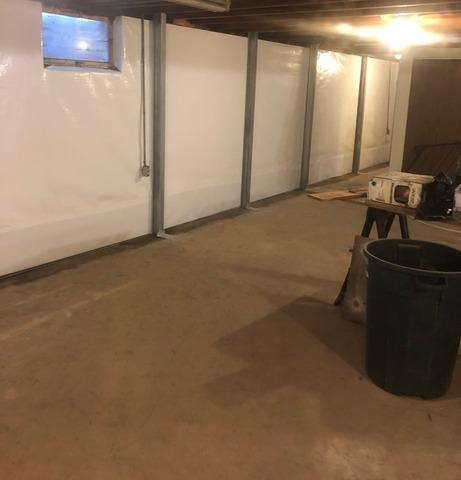 Duluth Basement Permanently Stabilized and Kept Dry Using WaterGuard®