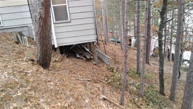 Danbury, WI Cabin is Stabilized with Push Pier System