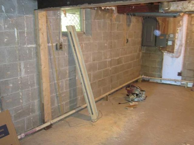 PowerBeam® Wall System Stabilized Basement in St. Croix Falls, WI