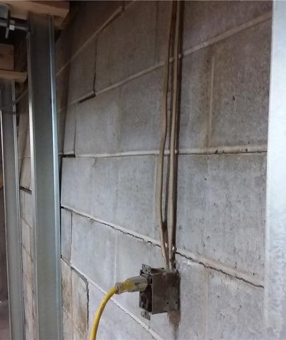 PowerBrace® Wall Braces Stabilize Basement in Chisholm, MN