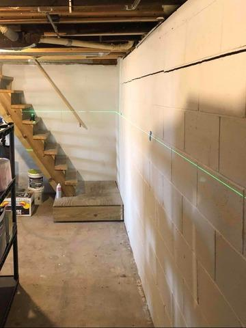Basement Wall Bowing Stabilized in Proctor, MN