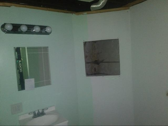 Wet Bathroom Stabilized In Grand Rapids, Minnesota