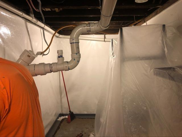 Wet Basement Kept Dry By DBS Residential Solutions In Superior, Wisconsin