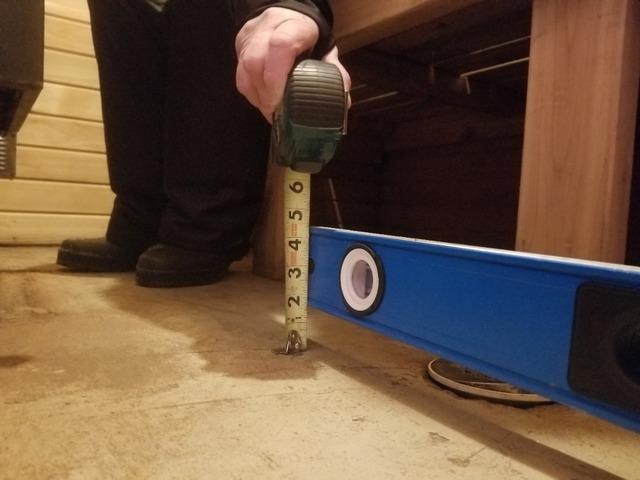 Uneven Floor in Wet Sauna Building Fixed with PolyLevel®