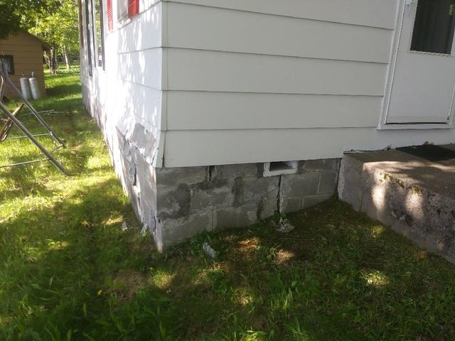 Foundation Support for Shifting Britt, MN Cabin