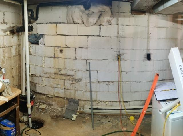 Cracked And Bowing Walls Stabilized With PowerBrace™ Support Beams In Duluth, Minnesota