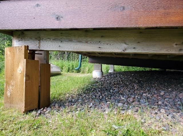 Lakeshore Cabin in Duluth, MN Permanently Supported with Helical Piers