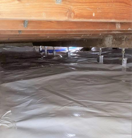 Crawl Space Leveled and Encapsulated in Eveleth, MN