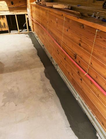 Water Damaged Basement in Poplar, WI Restored with Waterproofing System