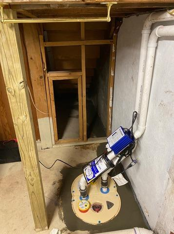 New Sump Pump and Drainage System for Wet Basement in Hibbing, MN