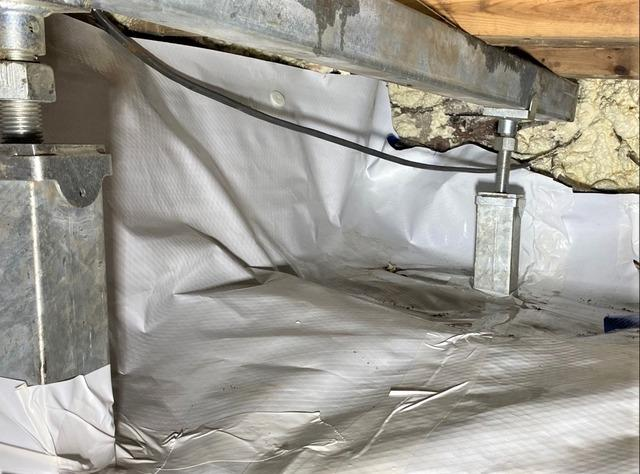 Crawl Space Supported and Encapsulated in Solon Springs, WI