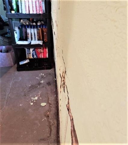 Cracked and Bowing Wall in Superior, WI Fixed with Wall Supports
