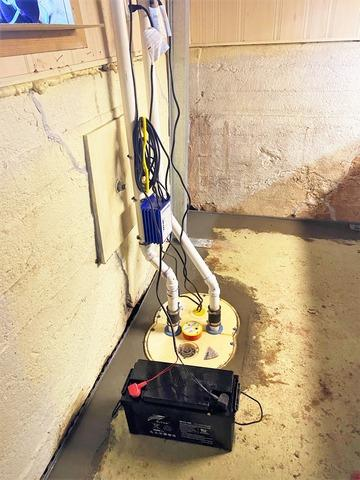 New Sump Pump to Protect Leaky Basement in Maple, WI