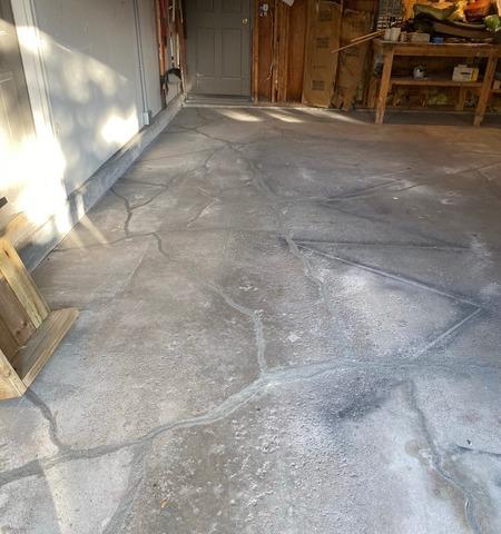 Sunken Garage Concrete Slab Lifted In Superior, Wisconsin