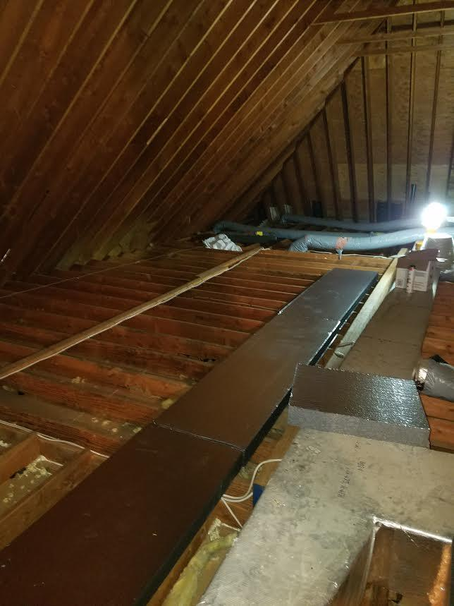 TruSoft Cellulose Attic Insulation in Farmington, CT - Before Photo