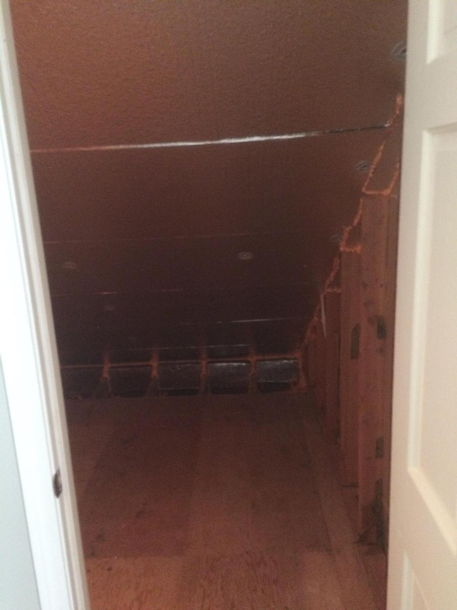 Insulating a Knee Wall in Simsbury, CT - After Photo