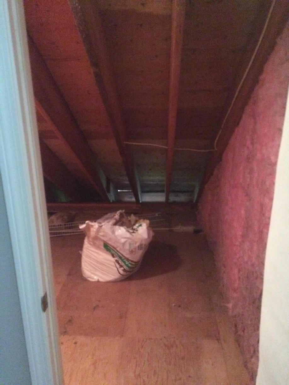 Insulating a Knee Wall in Simsbury, CT - Before Photo