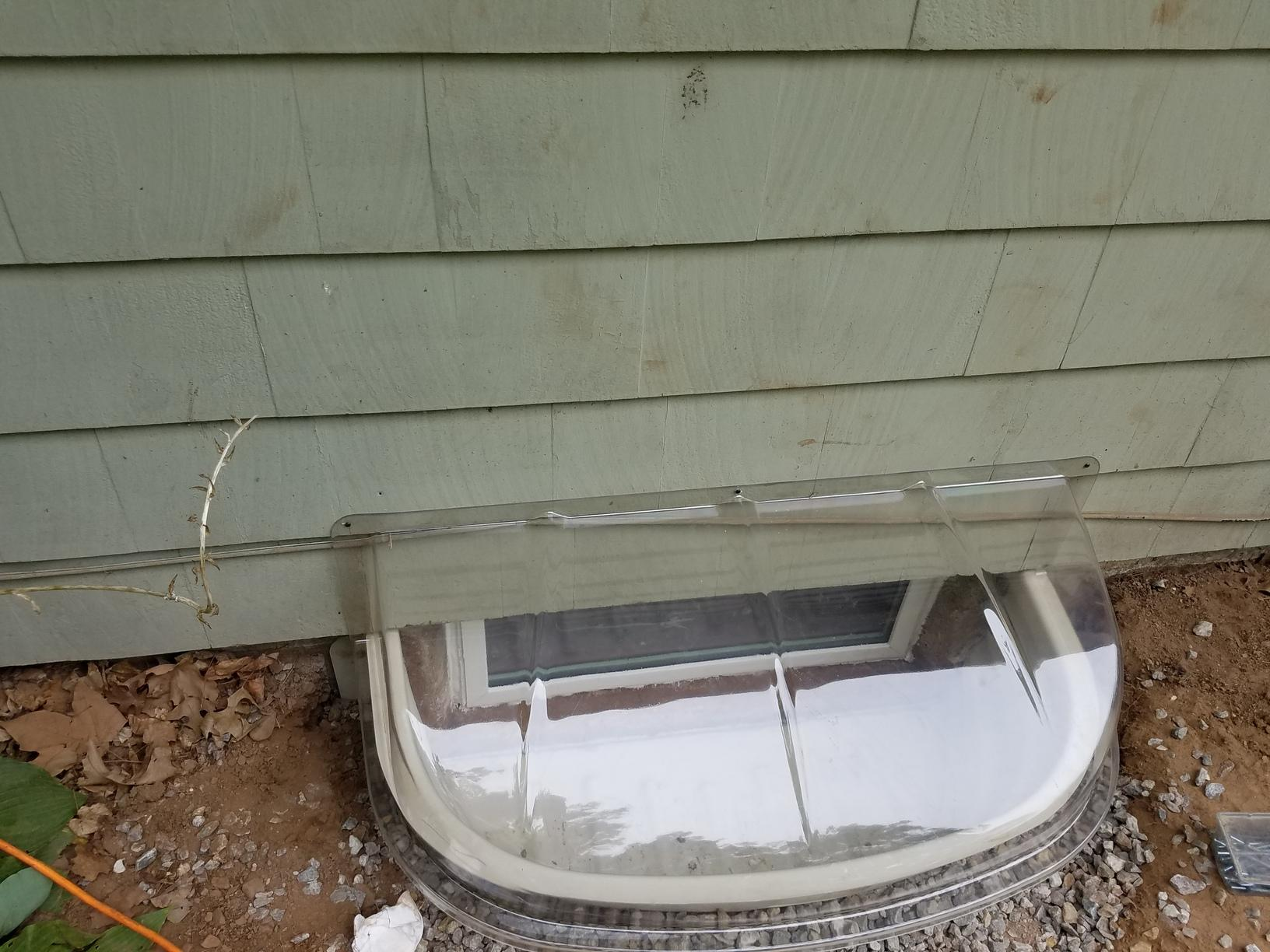 Installing Basement Window Wells in Bloomfield, CT - After Photo