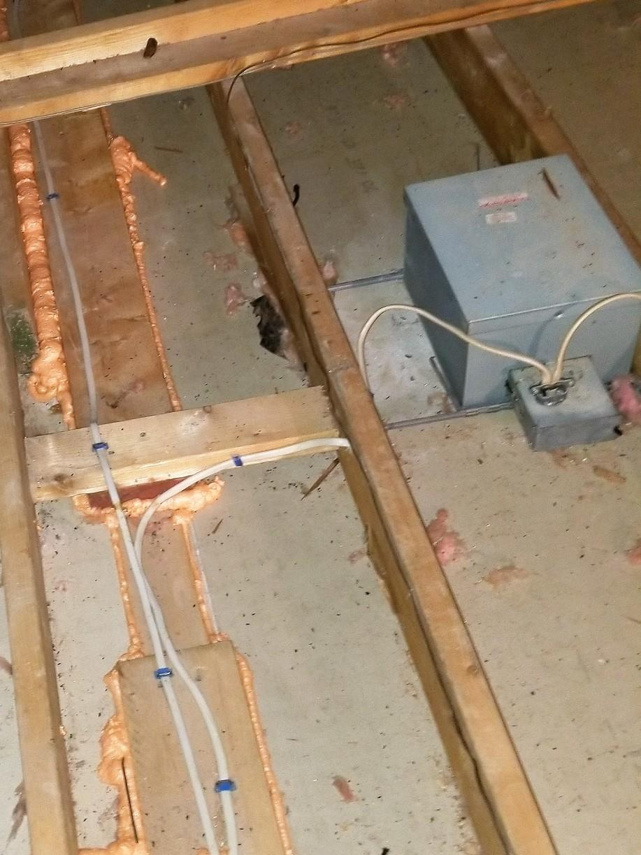 Insulating Can Lights in East Longmeadow, MA - Before Photo