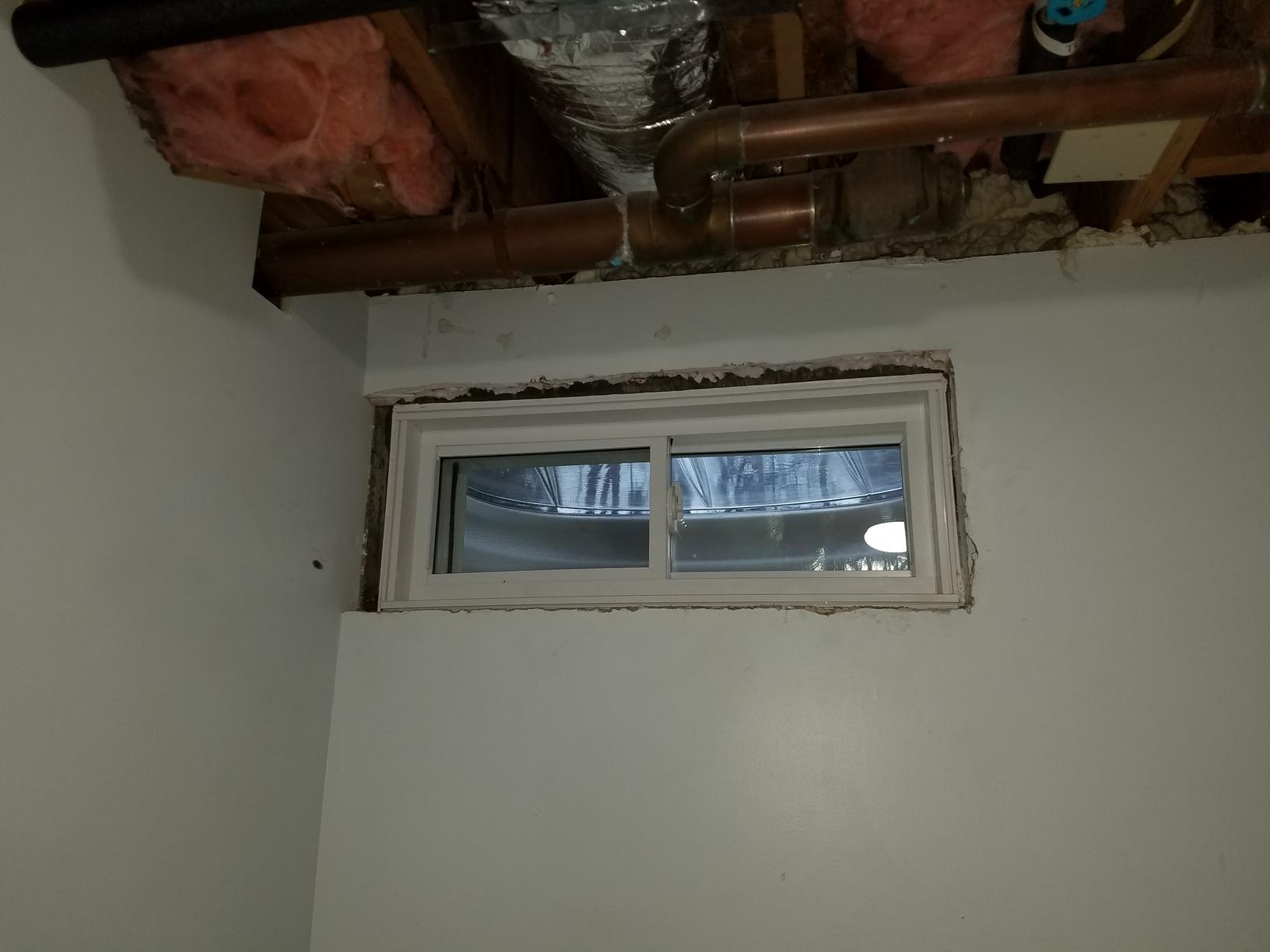 Replacing leaky Basement Windows in Colebrook, CT - After Photo