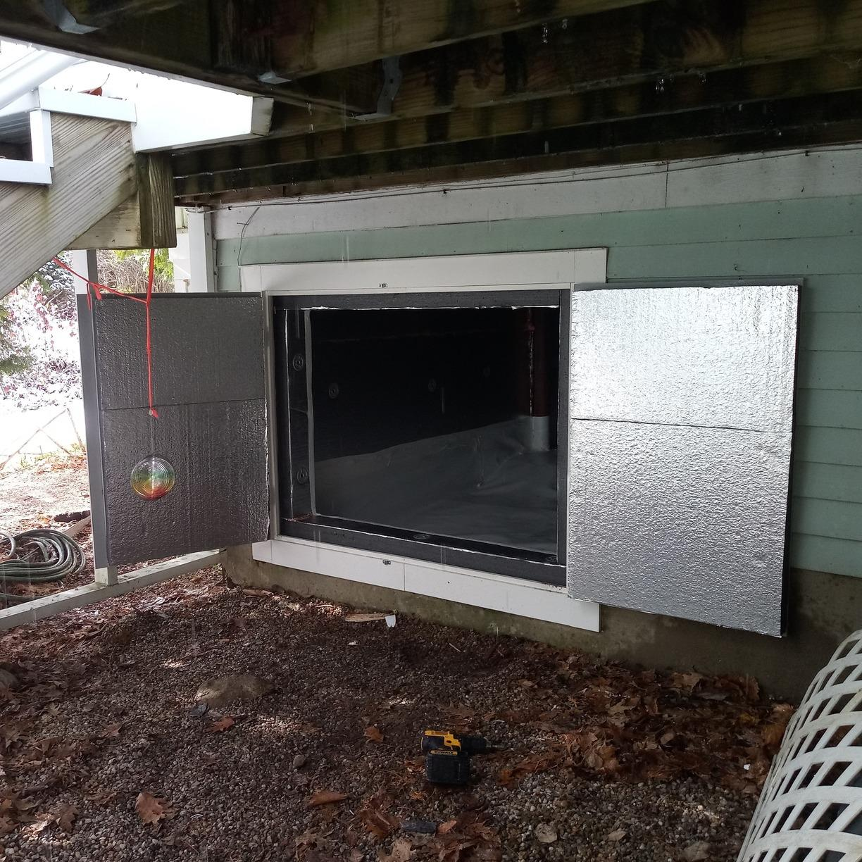 Majorly Improved Crawlspace Access Door in Winsted, CT - After Photo
