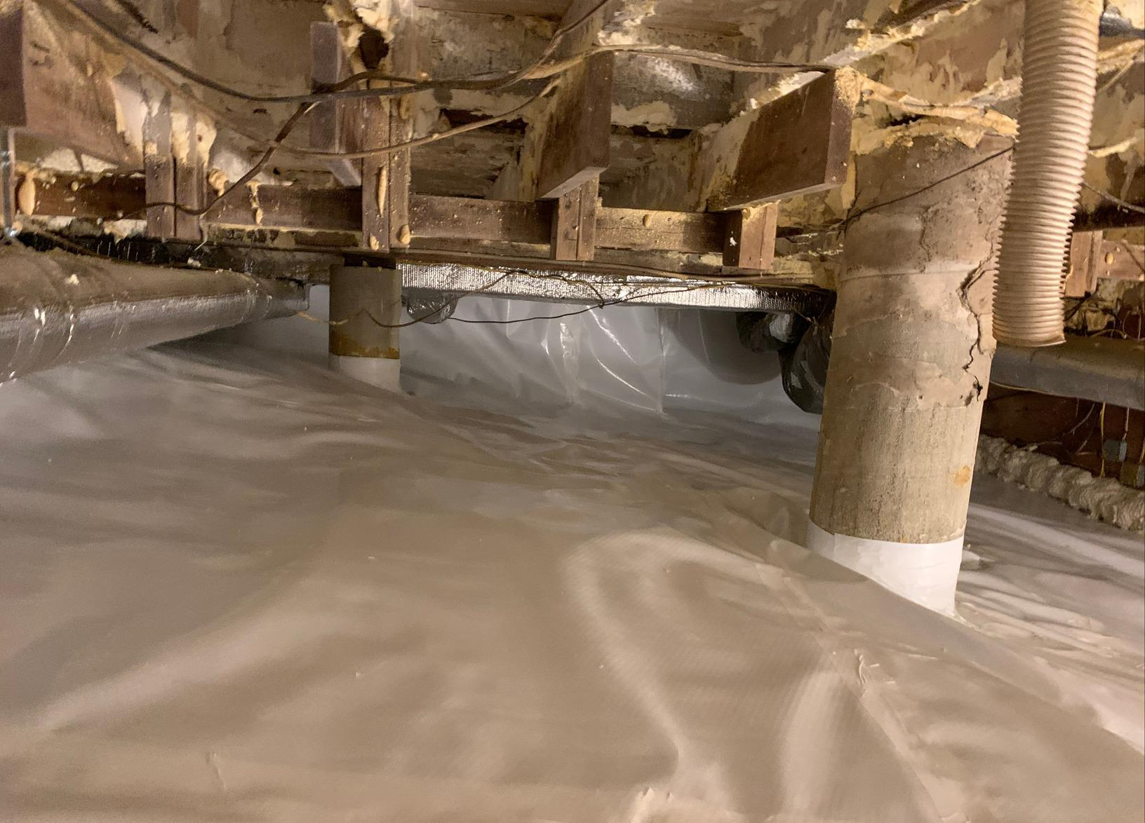 Eliminating Moisture in Crawlspace in Lenox, MA - After Photo