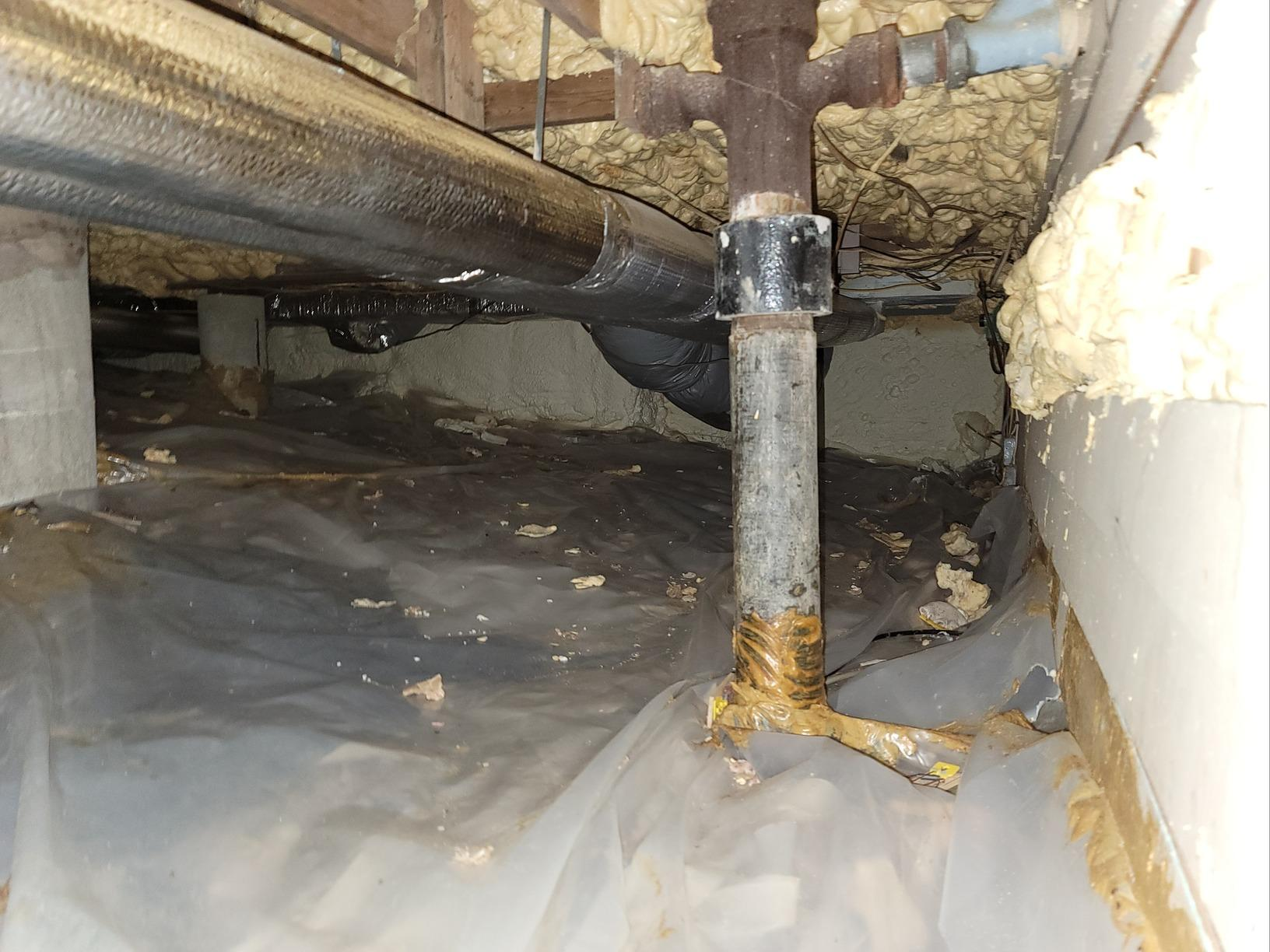 Eliminating Moisture in Crawlspace in Lenox, MA - Before Photo
