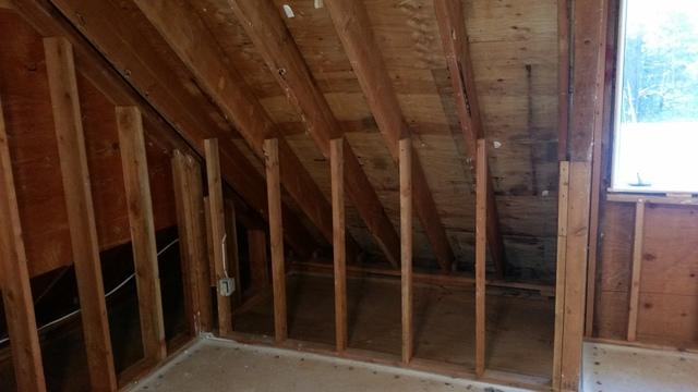 Insulating a Kneewall in Canton, CT - Before Photo