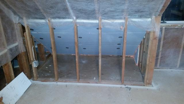 Insulating a Kneewall in Canton, CT - After Photo