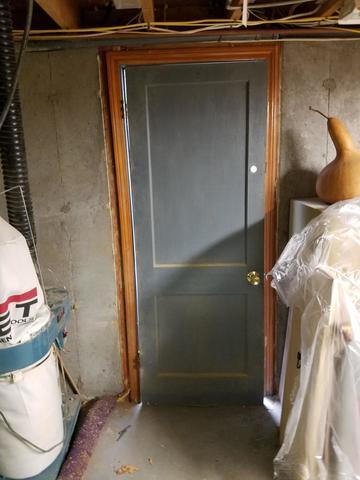 Installing a Basement Door in Enfield, CT - Before Photo