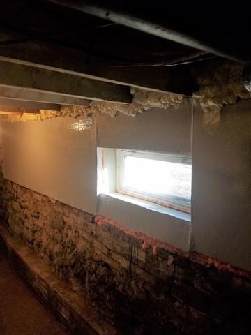 Insulating a Basement Wall in South Windsor, CT
