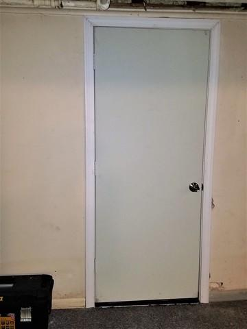 Replacing and Making a Basement Door More Efficient in Simsbury, CT