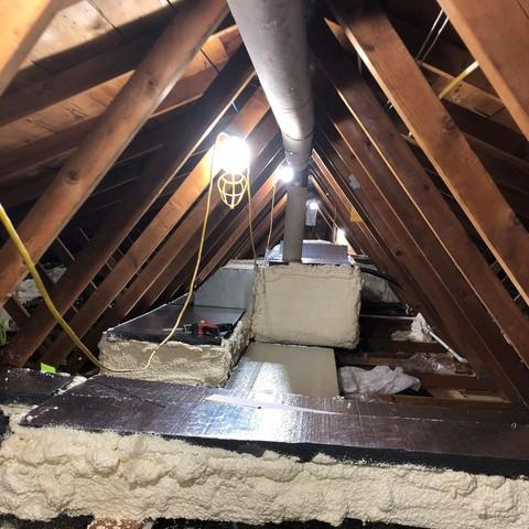 Encapsulating Ducts Running Through Attic in Avon, CT