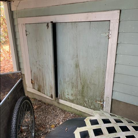 Majorly Improved Crawlspace Access Door in Winsted, CT - Before Photo