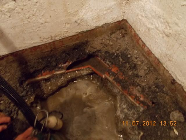 Sump Pump Installation - Before Photo