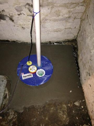 INSTALLING A SUMP PUMP - After Photo