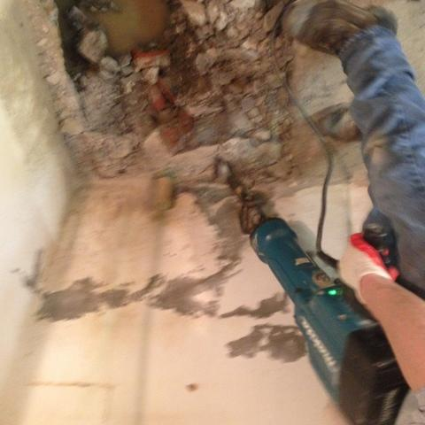 INSTALLING A SUMP PUMP - Before Photo