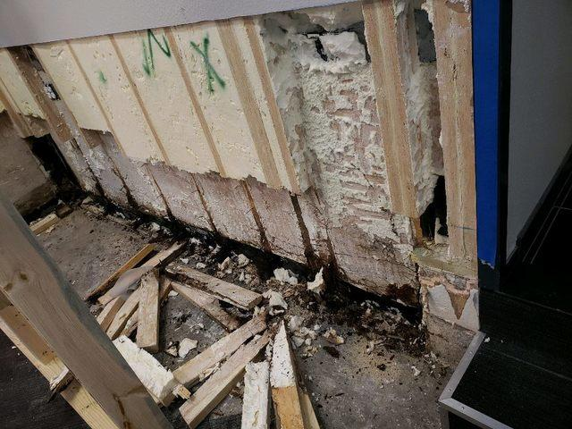 Basement waterproofing in Dallas - Before Photo