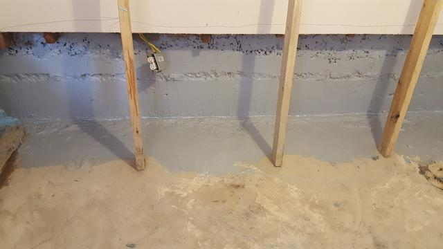 Basement waterproofing in Garland - After Photo