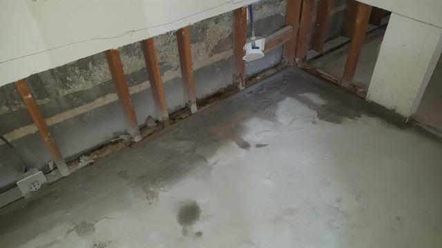 Basement waterproofing in Garland - Before Photo
