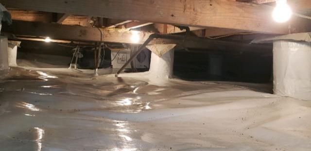 Crawl Space Encapsulation Repair / Sump Pump Installation