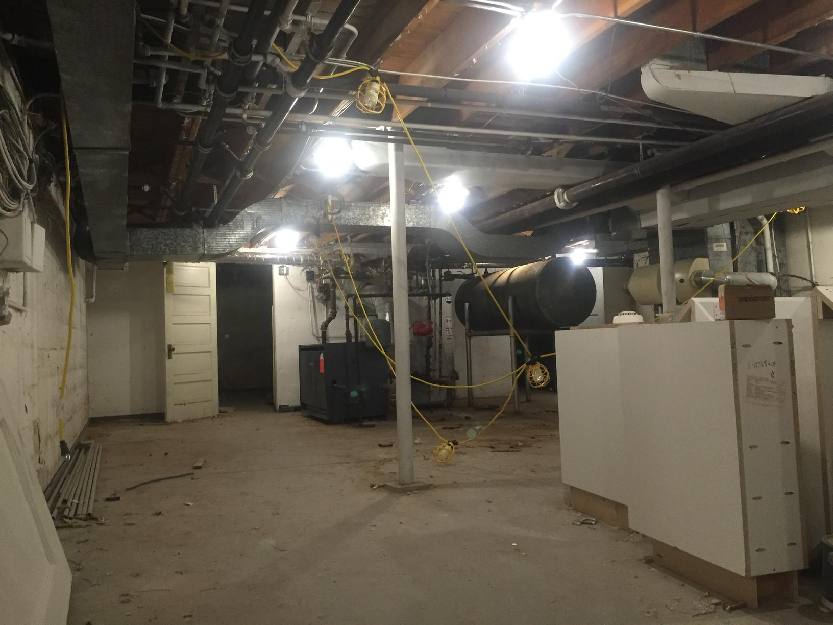 Basement Insualation in Highland Park, IL - Before Photo