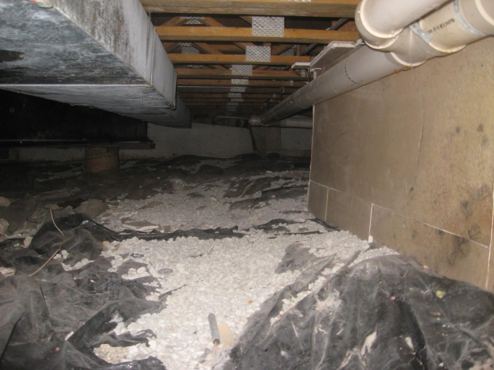Crawl Space Encapsulation in Northbrook, Illinois - Before Photo