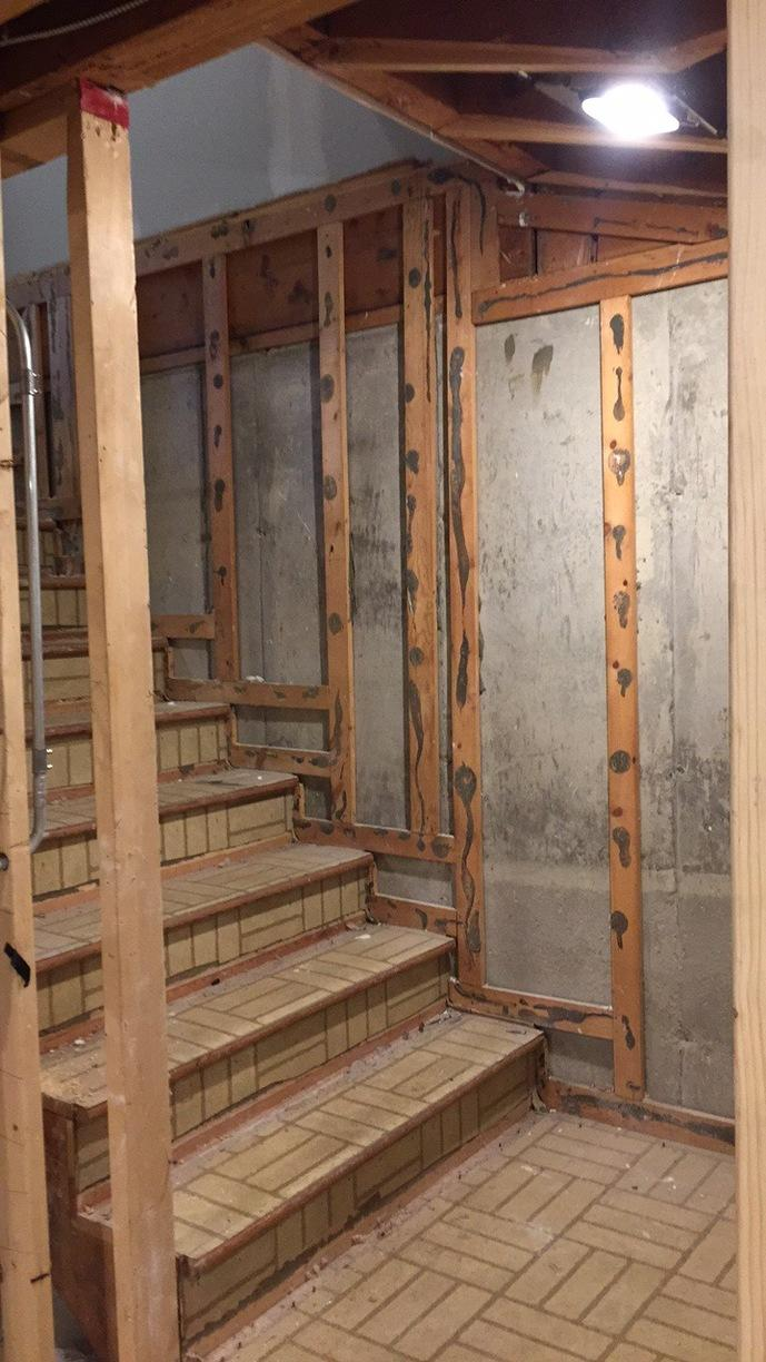 Spray Foam Insulation Added to Dundee, Illinois Basement - Before Photo