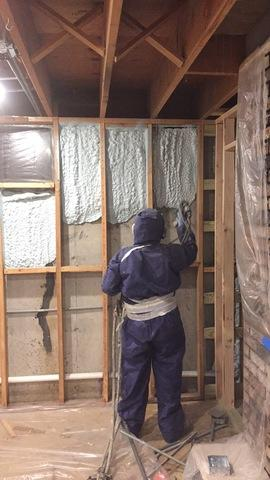 Spray Foam Insulation Added to Dundee, Illinois Basement - After Photo
