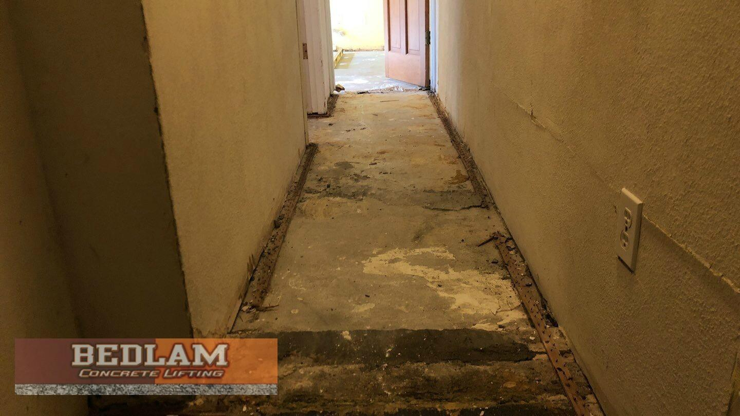 Interior Slab Leveling in Blackwell, Ok - Before Photo